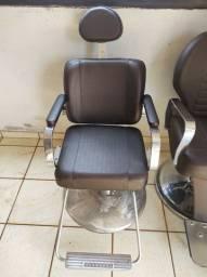 Cadeira para barbeiro não reclinável
