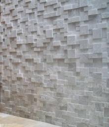 Mosaico de Pedra São Tomé 3D Revestimento Natural Promoção Magnifique