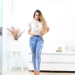 Jeans tendência coleção incrível