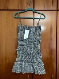 Vestido lastex, xadrez Vichy