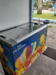 Vendo freezer de sorvete tampa