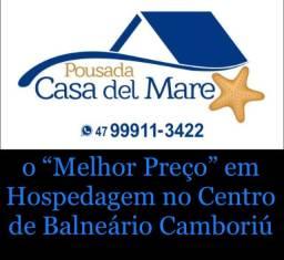 Pousada no centro de Balneário Camboriú (suítes quartos e Kitnete)