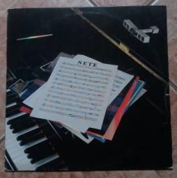 LP Vinil 14 Bis Sete Com Encarte e Pôster Raro