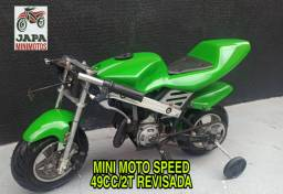 Mini Moto Speed Revisada 49cc/2t Em 10 Vezes Sem Juros