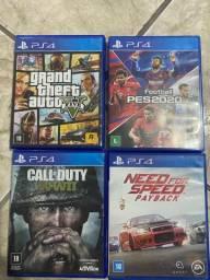 Vendo 4 jogos de ps4 original promoção  200