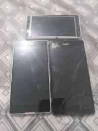 3 aparelhos para conserto ou retirada de pecas