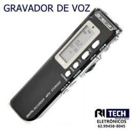 Gravador De Voz Digital Espião 8gb Memória Digital Portátil
