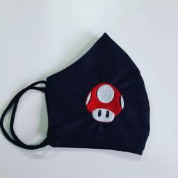 Máscaras bordadas vídeo game