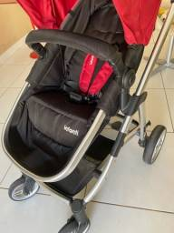 Título do anúncio: Carrinho com bebê conforto acoplado da Infanti