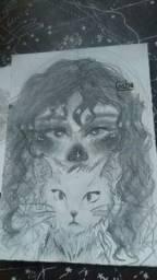 desenhos de rosto