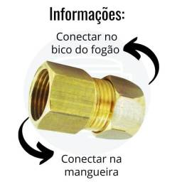 Título do anúncio: Adaptador Mangueira Gás encanado,Rosca interna 1/2 Fêmea, Bico 3/8,NOVO/ACEITO TROCAS