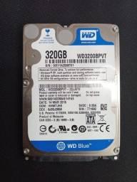 HD de Notebook 320GB Western Digital WD3200BPVT-22JJ5T0