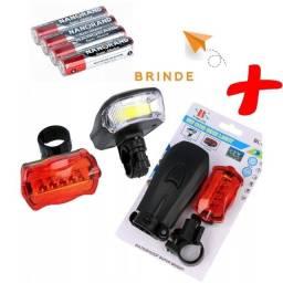 Título do anúncio: Lanterna Farol Bike Bicicleta Resistente a água 5w Led Forte + Brinde