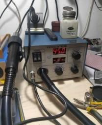 Soprador de ar quente com bomba interna com estação de solda