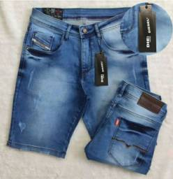 Bermudas jeans empório Armani e Diesel
