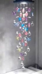 Lustre cristal para quarto infantil