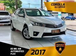 Toyota Corolla gli upper 2017 único dono