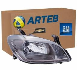 Farol Original Modelo Dark Chrome Para Celta 2012 até 2015 Lado Direito (Passageiro)
