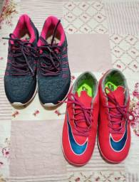 Chuteira Nike feminina e tênis Olimpykus Tam 37