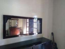 Espelho 1,5x68 decorado na moldura de mogno