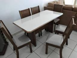 Mesa 6 cadeiras entrega e montagem imediata