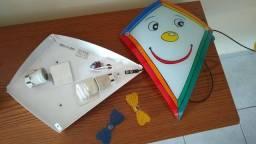 Luminária Pipa Quarto Infantil Pintado a Mão - Design Italiano - Lustre - Plafon