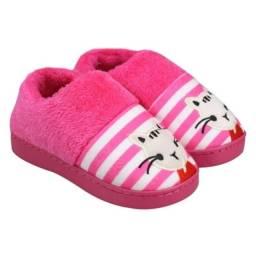 Pantufa Sapato Infantil Rosa C/ Personagem