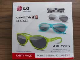 Óculos 3D TV Cinema modeloAG-F315, 4 unidades, usado apenas 1 vez!