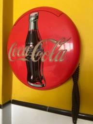 Telefone Antigo Coca Cola- Luz E Toque Especial /mesa Parede