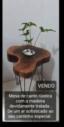 Mesa de tronco rústica