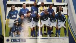 Pôster Placar - Cruzeiro Bicampeão Copa Sul-Minas 2002