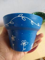 Vasos decorados para plantas