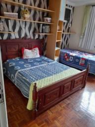 Cama madeira maciça + colchão