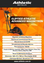 elíptico modelo athletic advanced com sensor de pulso e cardio