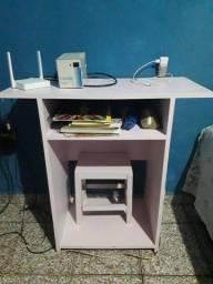 Mesinha/Escrivaninha Rosa
