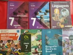 Livro didáticos 7o. ano - 60,00 e MA - 75,00