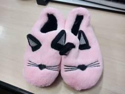 Pantufa Sapato Infantil Rosa C/pelo Super Quente!