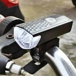 (Aceito cartão) Farol de Led Recarregável para  Bike/Bicicleta de 300 Lumens
