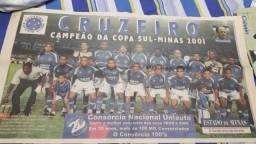 Pôster Cruzeiro Sul-Minas 2001 - Estado de Minas