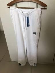 Calça adidas branca moletom nova tam PP