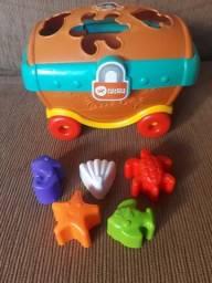 Brinquedo pedagógico 5 peças encaixe