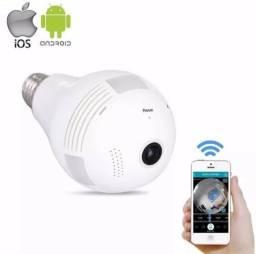 Camera Ip Com Lampada Led 360° Hd Panorâmica Iphone Android Espia Queima de estoque