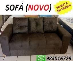 Peça Hoje e Receba No Mesmo Dia Lindo Sofa 3 Lugares Com Almofadas Super Barato 499,00