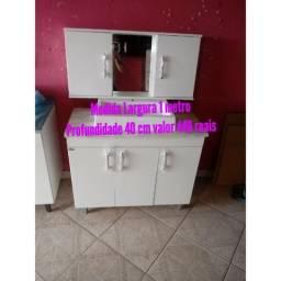 Kits banheiro completo com a cuba de louça armario espelho conforme as fotos novos