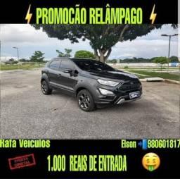 Promoção relâmpago ford new ecosport 2.0 4x4 storm ano 2019 com r$ 1.000 mil de entrada - 2019