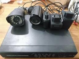 Dvr 4 Canas +HD de 500 +2 câmeras
