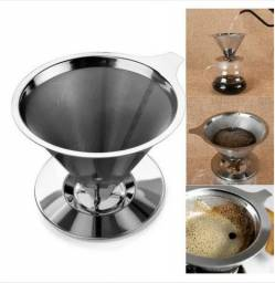 Filtro Coador de Café de Aço Inox/ sem uso de papel (102) -