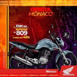 PROMOÇÃO HONDA FAN 160 R$809