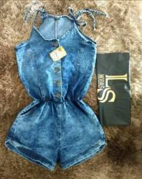 Macaquinho jeans Feminino ATACADO e VAREJO