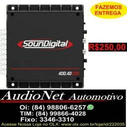 Potencia 400w Rms Soundigital Sd400 4 Canais Tag: Ts400 Modulo Potência Taramps Stetsom, usado comprar usado  Natal